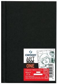 CANSON - Bloc Art Book One noir - 100g - A4