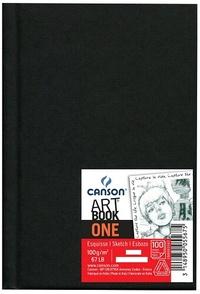 CANSON - Bloc Art Book One noir - 100g - A5