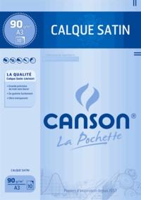 CANSON - Papier calque satin A3 90g - 10 feuilles