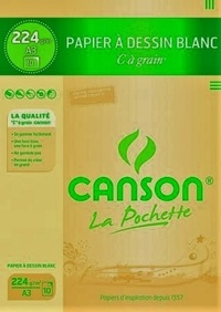 CANSON - Papier dessin Canson C a Grain A3 224g - Pochette 10 feuilles