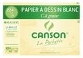 CANSON - Papier dessin Canson C a Grain A4 224g - Pochette 12 feuilles
