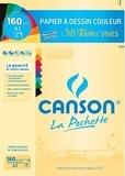 CANSON - Papier dessin Canson mi teintes vives A3 160g - Pochette 8 feuilles