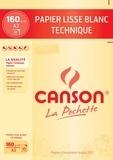 CANSON - Papier dessin Canson technique A3 160g - Pochette 10 feuilles
