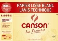 CANSON - Papier dessin Canson Technique A4 160g - Pochette12 feuilles