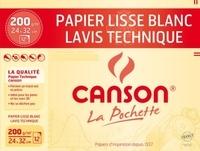 CANSON - Papier dessin Technique 24x32 200g - Pochette 12 feuilles