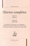 Cardinal de Retz - Oeuvres complètes - Tome 9, Mémoires Volume 2 (1650-1655).