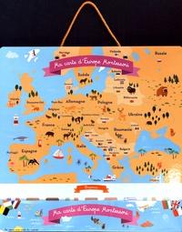 Carine Girac-Marinier - Ma carte du monde Montessori et ma carte d'Europe Montessori - 2 cartes et 40 aimants pour découvrir le monde !.