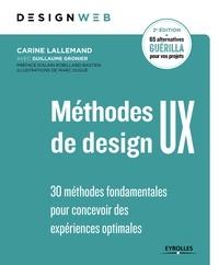 Méthodes de design UX - Carine Lallemand, Guillaume Gronier - 9782212805741 - 23,99 €