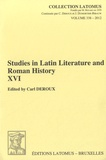 Carl Deroux - Studies in Latin Literature and Roman History.