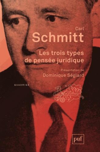 Carl Schmitt - Les trois types de pensée juridique.