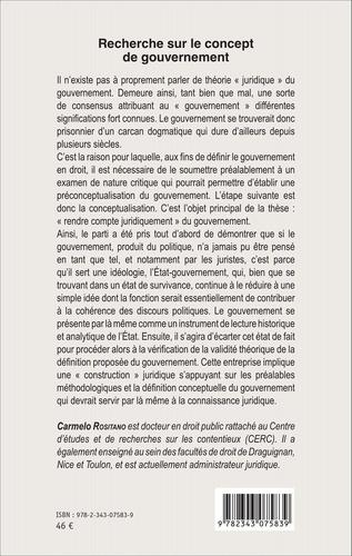 Recherche sur le concept de gouvernement