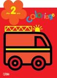 Carmen Busquets - Le camion de pompier - Coloriage dès 2 ans.