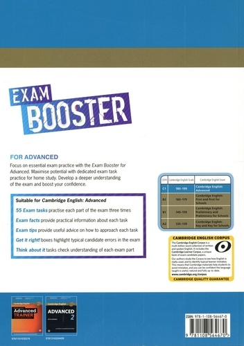 Exam Booster with Answer Key for Advanced. Self-study Edition