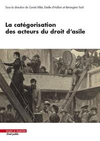 Carole Billet et Estelle d' Halluin - La catégorisation des acteurs du droit d'asile.