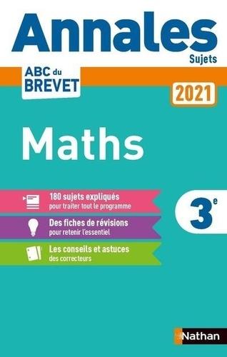 Maths 3e. Sujets  Edition 2021