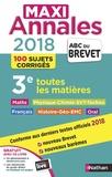 Carole Feugère et Gilles Mora - Maxi Annales 3e - 100 sujets corrigés.
