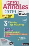 Carole Feugère et Gilles Mora - Toutes les matières 3e - 100 sujets corrigés.