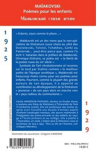 Maïakovski Poèmes pour les enfants. Edition bilingue russe-français