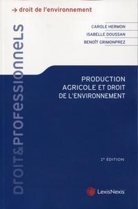 Carole Hermon - Production agricole et droit de l'environnement.