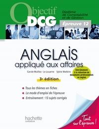 Carole Mulliez et Sylvie Watkins - Objectif DCG Anglais appliqué aux affaires.