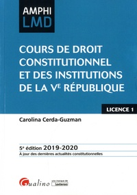 Carolina Cerda-Guzman - Cours de droit constitutionnel et des institutions de la Ve République.
