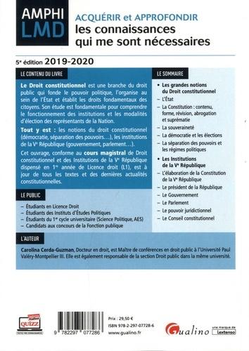 Cours de droit constitutionnel et des institutions de la Ve République  Edition 2019-2020