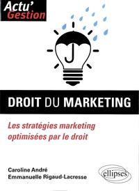Caroline André et Emmanuelle Rigaud-Lacresse - Droit du marketing - Les stratégies marketing optimisées par le droit.
