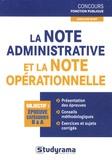 Caroline Binet - La note administrative et la note opérationnelle.