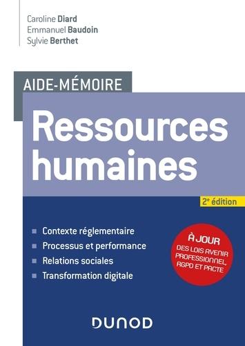 Caroline Diard et Emmanuel Baudoin - Aide-mémoire - Ressources humaines - 2e éd..
