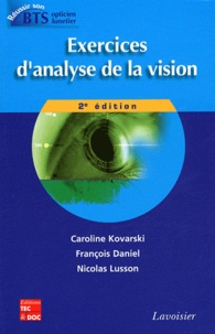 Caroline Kovarski et François Daniel - Exercices d'analyse de la vision.