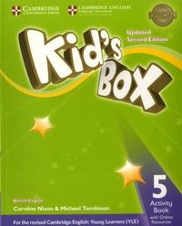 Caroline Nixon et Michael Tomlinson - Kid's Box Level 5 - Activity Book with Online Resources British English.