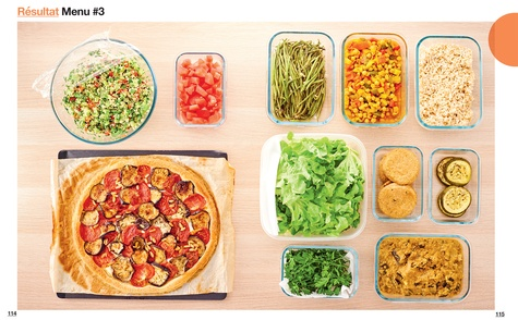 En 2h je cuisine veggie pour toute la semaine. 80 menus faits maison, sans gâchis et avec des produits de saison