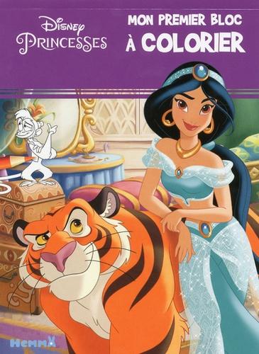 Coloriage Princesse Grand Format.Mon Premier Bloc A Colorier Disney Princesses Jasmine Grand Format