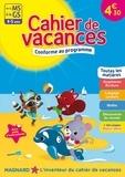 Caroline Thierry et Emmanuelle Colin - Cahier de vacances De la MS à la GS - 4-5 ans.