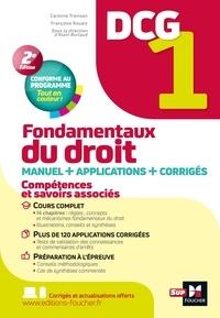 Caroline Trevisan et Françoise Rouaix - Fondamentaux du droit DCG 1 - Mannuel + applications.