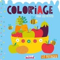 Carotte et compagnie - Le potager - Coloriage pour les petits.