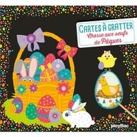 Carotte et compagnie - Ma pochette Chasse aux oeufs de Pâques - Avec 5 cartes à gratter, 5 cartes à colorier, 1 pique en bois..