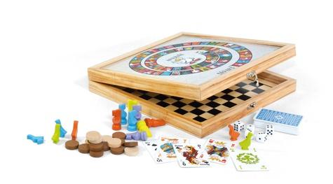 CARTAMUNDI - Coffret en bois 100 jeux