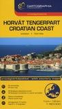 Cartographia - Horvat tengerpart Croatian coast : Dalmacia, Isztria, Montenegro - Atlas routier de la côte Croate, 1/160 000.