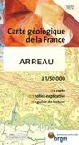 P Barrère et E-J Debroas - Arreau - 1/50 000.