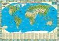 Cartothèque - Carte du monde illustrée des animaux - 100x70 cm.