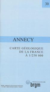 Jacques Debelmas - Carte géologique de la France Annecy - 1/250 000.