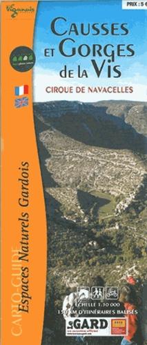 Causses et Gorges de la Vis. Cirque de Navacelles 1/30 000