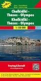 Freytag & Berndt - Chalkidiki, Thasos, Olympos - 1/150 000.