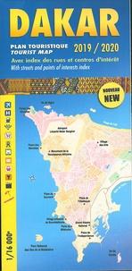 Laure Kane - Dakar, plan touristique avec index des rues et centres d'intrêts - 1/16 000.