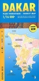 Laure Kane - Dakar - Plan touristique 1/16 000.