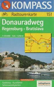 Kompass - Donauradweg Regensburg-Brastislava - 1/125 000.