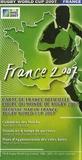 IRB - France 2007 - Carte de France Officielle Coupe du Monde de Rugby 2007.