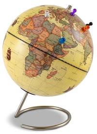 Cartothèque - Globe magnétique 23 cm antique + 6 magnets.