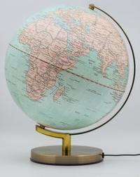 Cartothèque - Globe terrestre bleu lumineux.